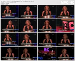 KATIE COURIC *cleavage* - Broadcasting Cable Hall of Fame Awards