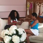 TAMRON HALL - leggy pic with serena williams