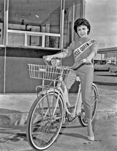 Sixteen-year-old actress Annette Funicello-Bicycle Queen of 1959
