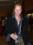 Uma Thurman looks amazing without makeup September 2-2015 x16