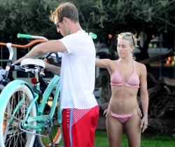 Julianne Hough Wearing a Bikini in Manhattan Beach - 9/3/15