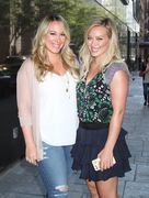 Hilary & Haylie Duff - Leaving Good Day New York 9/15/15