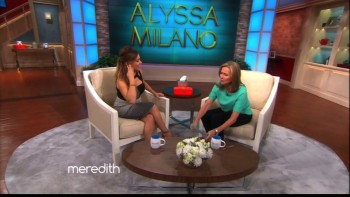 ALYSSA MILANO - The Meredith Vieira Show 09.17.15