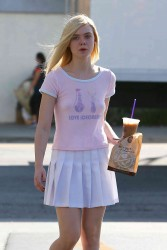 Elle Fanning - Leaving Coffee Shop 9/21/15