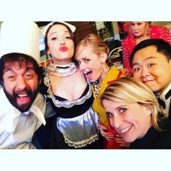 Kat Dennings Dressed as a French Maid on the Set of 2 Broke Girls - 9/22/15
