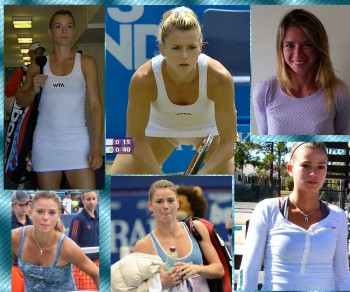 Camila Giorgi, tennis player, 3 collage