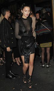 Bella Hadid - Leaving the Balmain Fashion Show After Party in Paris 10/1/15