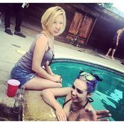 Skye Sweetnam - At A Pool Party In A Green And Black Bikini - Van Nuys, California - 9/27/15 (2xMQ)