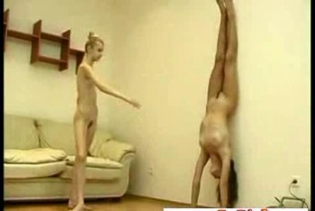 Flexible ballerina annett naked workout