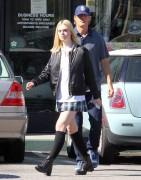 Elle Fanning - in Short Skirt Out in Los Angeles November 4, 2015