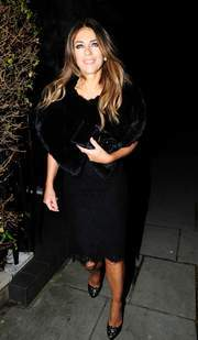 Elizabeth Hurley Heads for a night on the town in London November 25-2015 x13