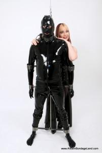 AliceInBondageLand - Metal Suspension Bondage - Scavengers Daughter - Rubber FemDom CBT