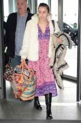 Miley Cyrus - At JFK Airport 1/18/16