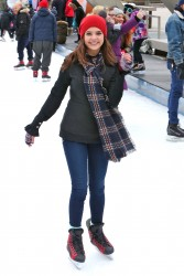 Bailee Madison -Ice Skating in Toronto 1/17/16