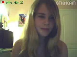 teenage nude schoolgirl on omegle chat stickam and younow
