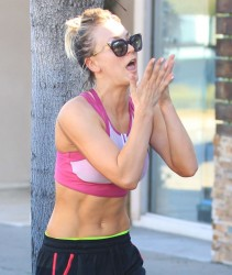 Kaley Cuoco Leaving a Yoga Class in Studio City - 2/9/16