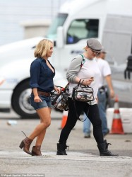 Hayden Panettiere shooting a Carl's Jr. Commercial in LA 17.02.16