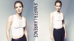 Jennifer Lawrence Sexy Tummy Wallpaper