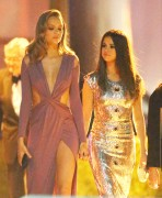 Selena Gomez & Josephine Skriver - Leaving the Vanity Fair Oscar Party 2/28/16
