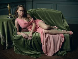 Brie Larson-              Mark Seliger 2016 Vanity Fair Oscar Party Portrait.