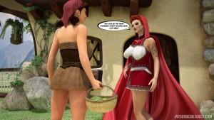 Red riding hood interracial porn comic parody in 3D