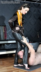 FemmeFataleFilms - Lady Victoria Valente - Leather Queening part 1