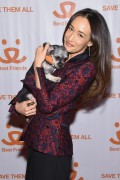 Maggie Q-               	New York Notables Gathering At The Best Friends Animal Society Benefit To Save Them All March 8th 2016.