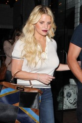 Jessica Simpson - Leaving Mercado Restaurant in West Hollywood 3/15/16