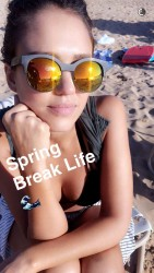 Jessica Alba at the Beach - March 2016 Snapchat Pic